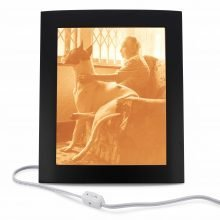 photo memorial gifts - from a photo to a memoeiral light